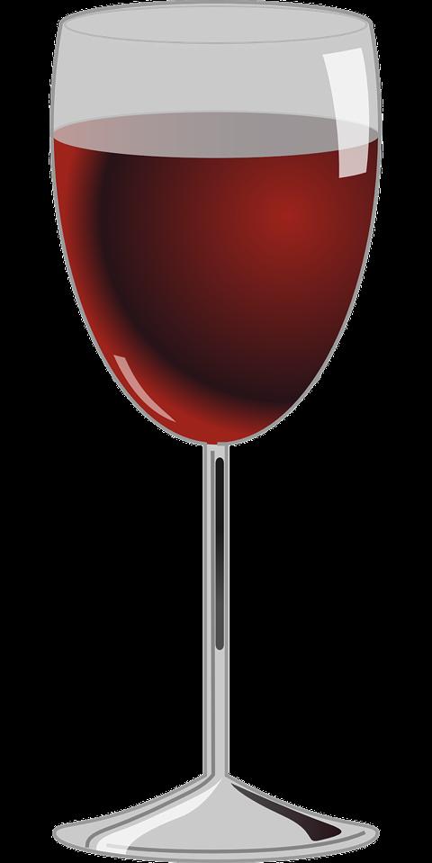Fullt glas vin
