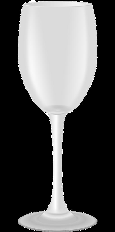 Tomt glas vin
